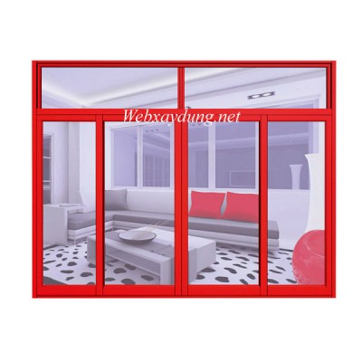Mẫu cửa sổ kết hợp với vách kính nhôm Xingfa nhập khẩu