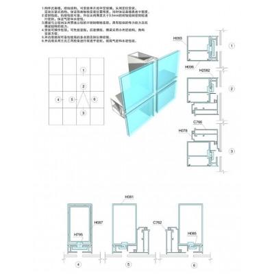 Vách kính mặt dựng nhôm Xingfa cao cấp hệ 65