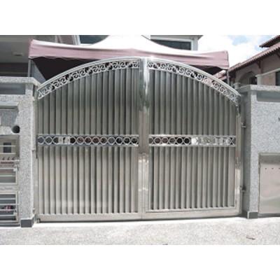 Mẫu cửa cổng inox 2 cánh
