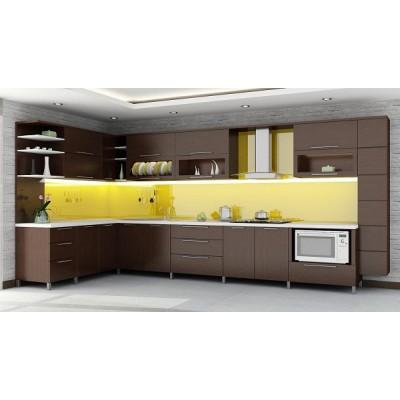 Mẫu kính màu ốp bếp đẹp 1