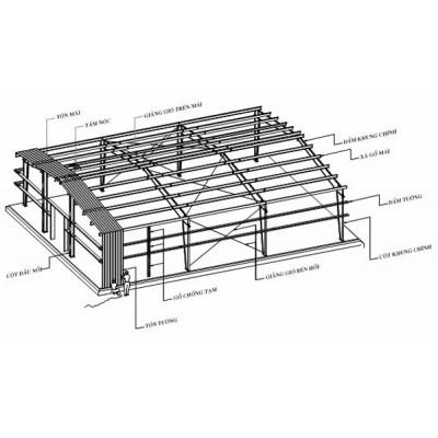 Nhà thép tiền chế - Mái tôn nhà xưởng