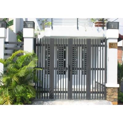Mẫu cửa cổng sắt 4 cánh đẹp 1