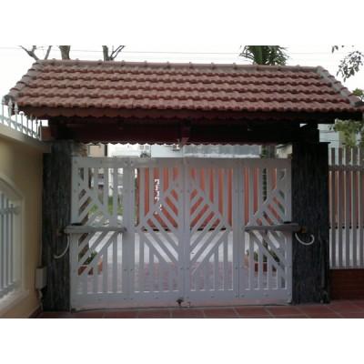 29 mẫu cửa cổng sắt hộp 4 cánh đẹp, đơn giản, hiện đại