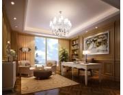 Mẫu trần vách thạch cao phòng khách đẹp 2