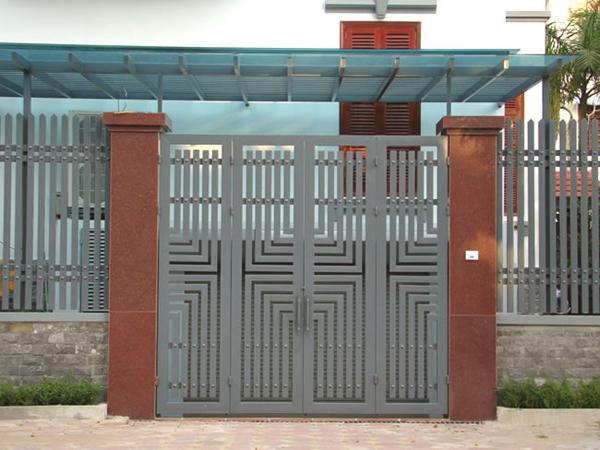 15 mẫu cửa sắt đẹp 4 cánh đơn giản và hiện đại